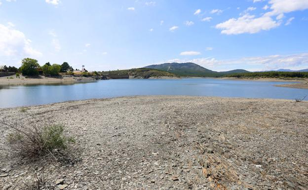 Embalse de Villameca, al 40% de su capacidad total.