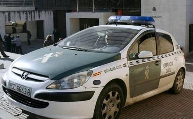 Coche de la Guardia Civil./