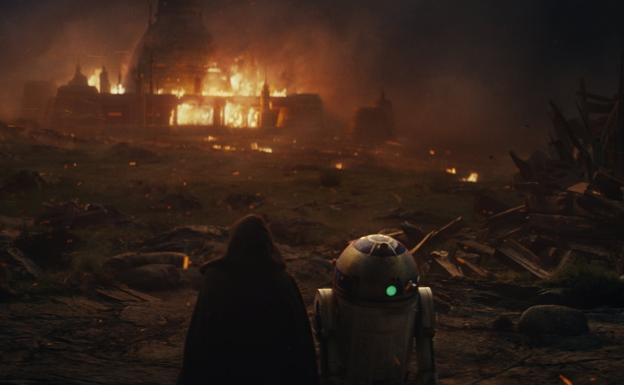 Escena de 'Star Wars VIII: The Last Jedi'./