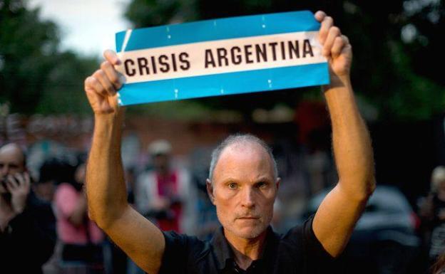 Imagen de la crisis argentina./