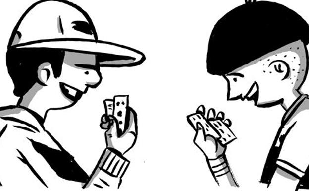 Rinconete y Cortadillo en una ilustración de Decrépito./