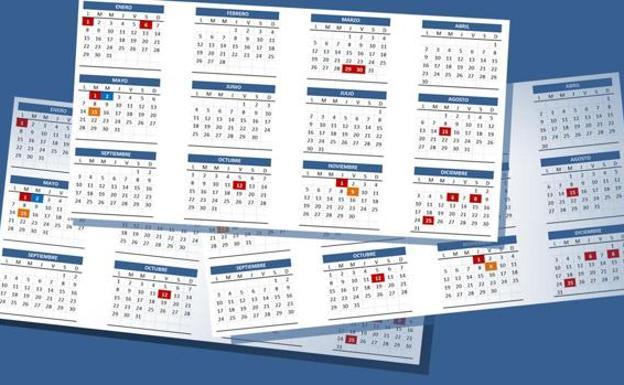 Calendario Laboral Ceuta 2019.El Calendario Laboral De 2019 Tendra Ocho Festivos Con Dos Puentes