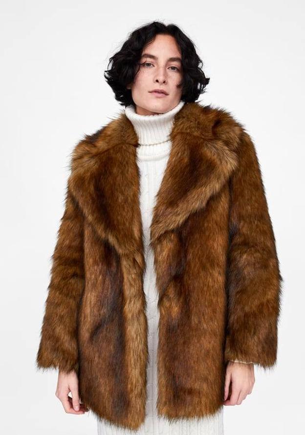 imágenes detalladas liberar información sobre nuevo estilo Los abrigos de Zara efecto pelo que triunfarán en las ...