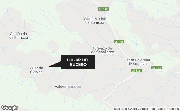 Localización del lugar del accidente.