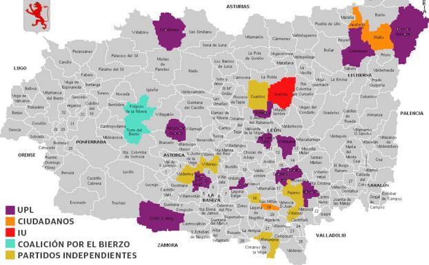 Mapa Del Bierzo Leon.Solo 28 Municipios Se Libran Del Bipartidismo Con 15 Alcaldias Para Upl Leonoticias