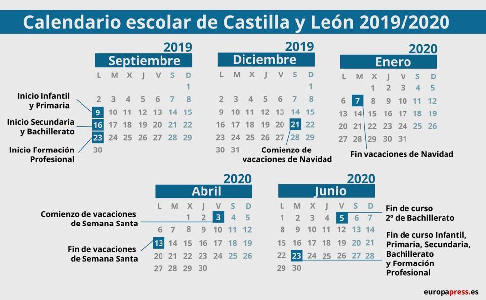 Calendario Vacaciones.Las Fechas De La Vuelta Al Cole Leonoticias