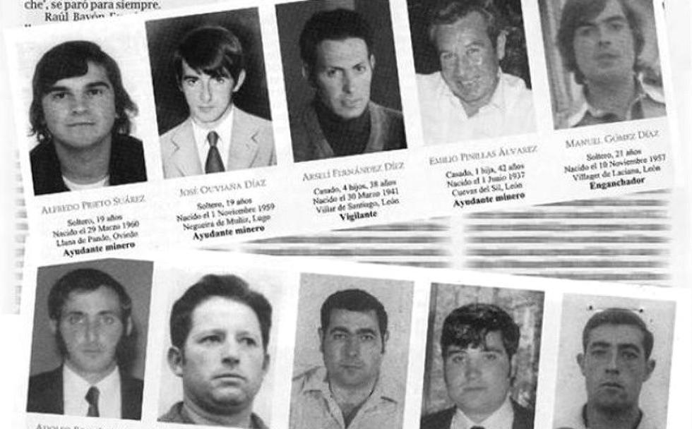 Los 10 fallecidos en el pozo María de Caboalles. /El MIxto