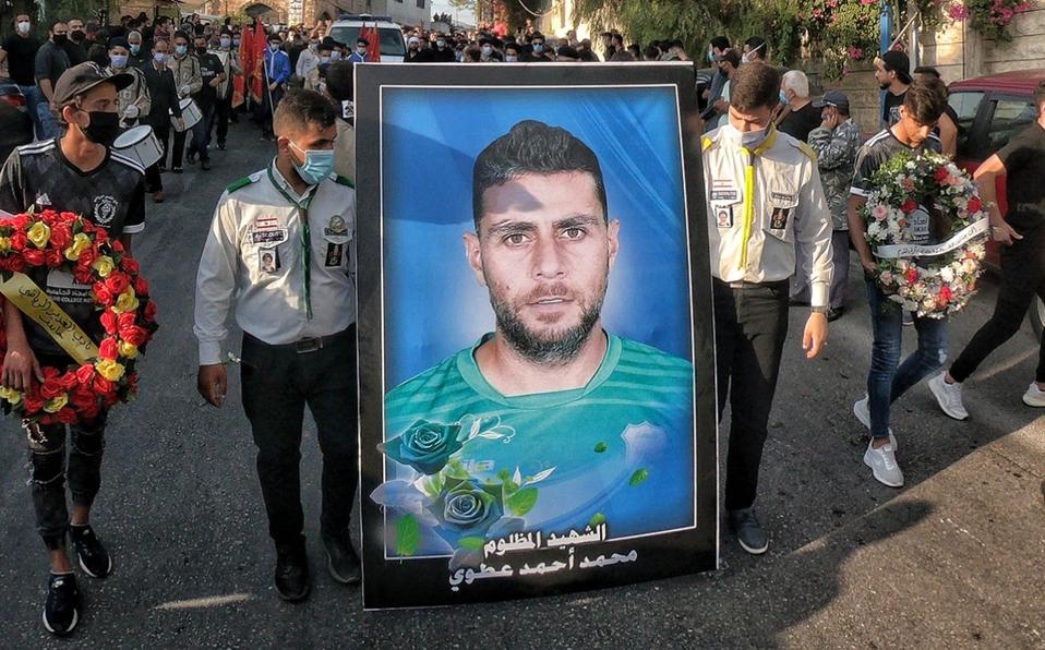 Una imagen del funeral de Mohamed Atwi.